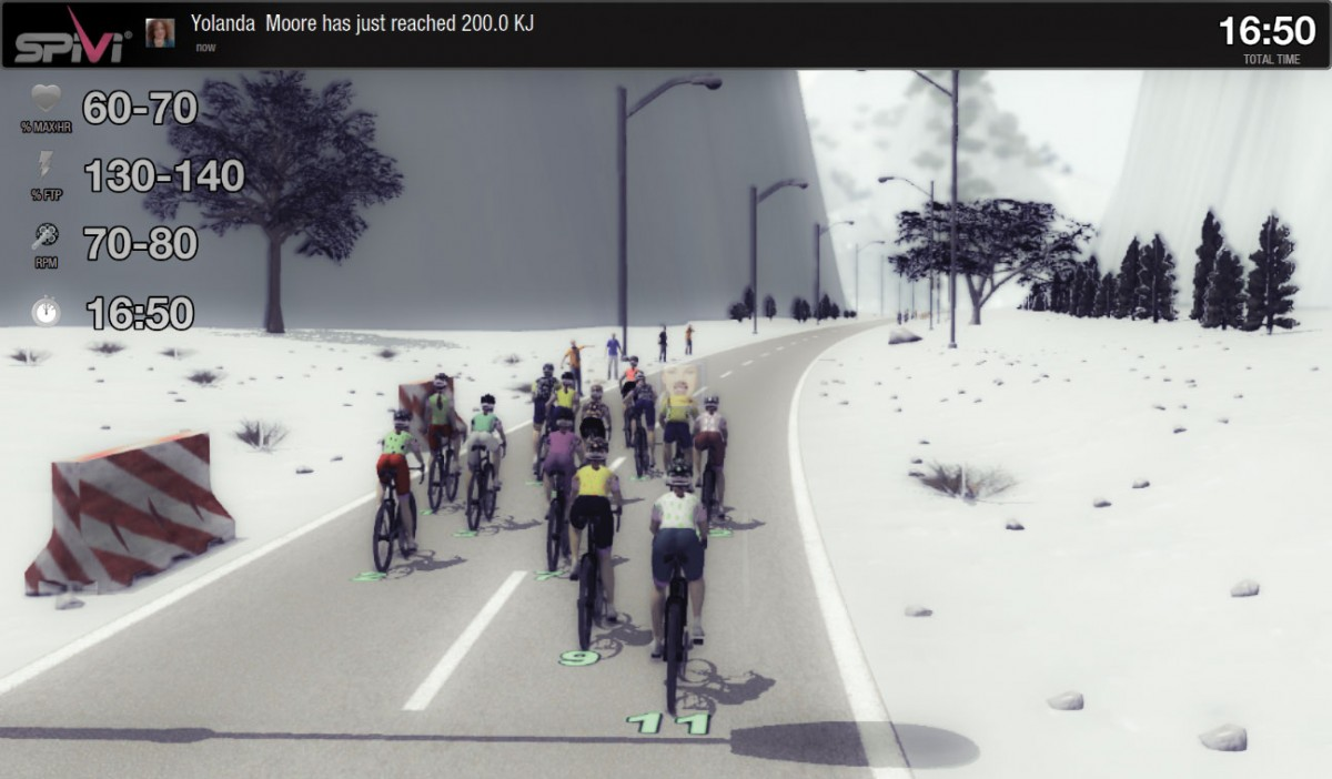 Virtual cycling classes engage and help to improve overall performance